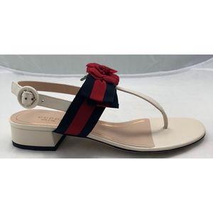 594e84f634ef6f Gucci Shoes - New Gucci Floral Web Ribbon Bow Sandals White 38